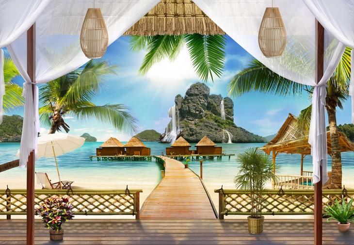 Фотообои «Бунгало на пляже»