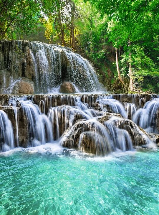 Фотообои «Хрустальные водопады»