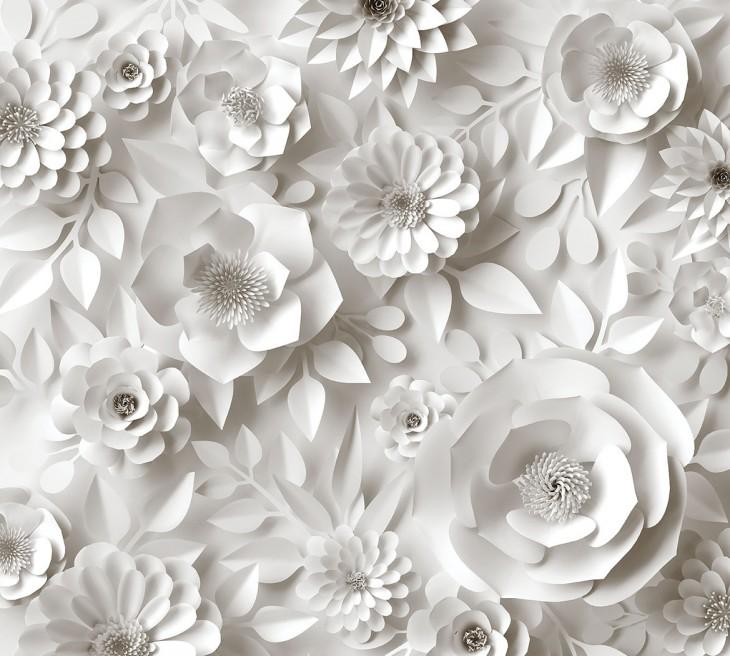 Фотообои «Бумажные цветы»