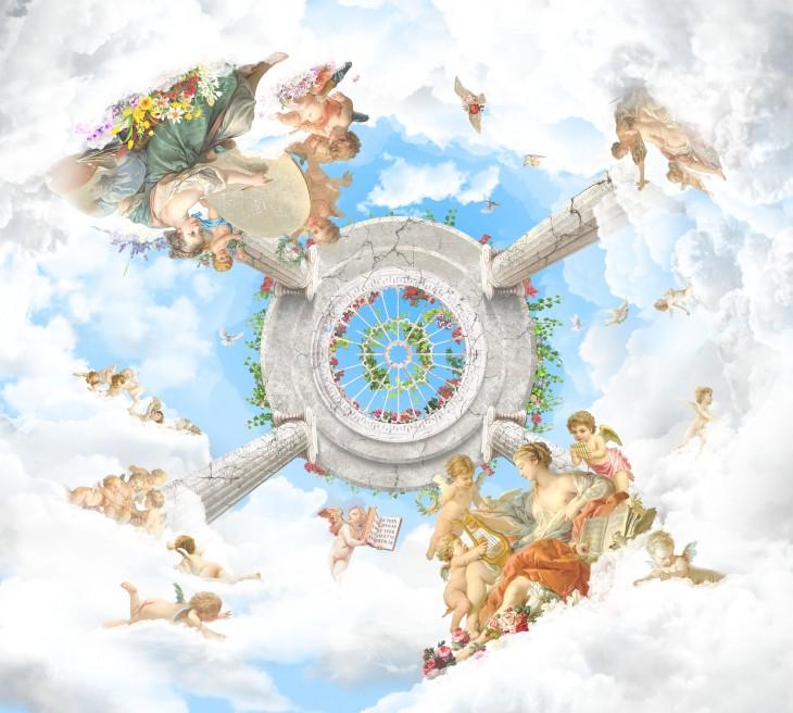 Фотообои «Ангелы в облаках»
