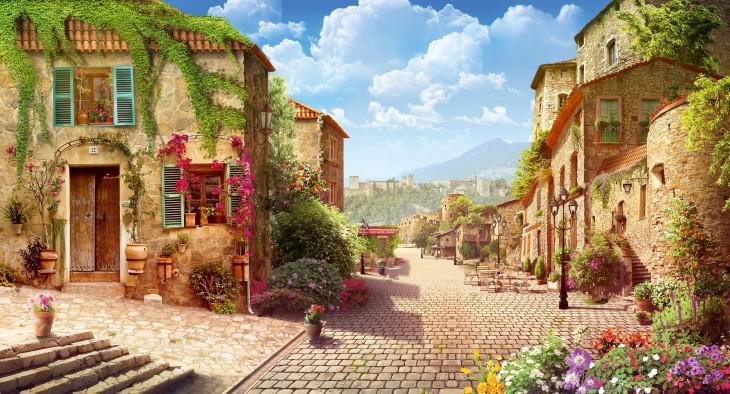 Фотообои «Итальянская улочка»