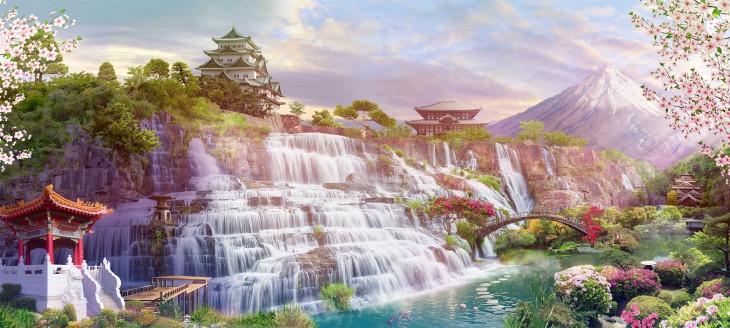 Фотообои «Японские водопады»